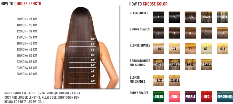 how to choose the hair extensions length and color