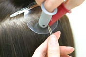 How to Apply Fusion Hair Extensions,Step Seven